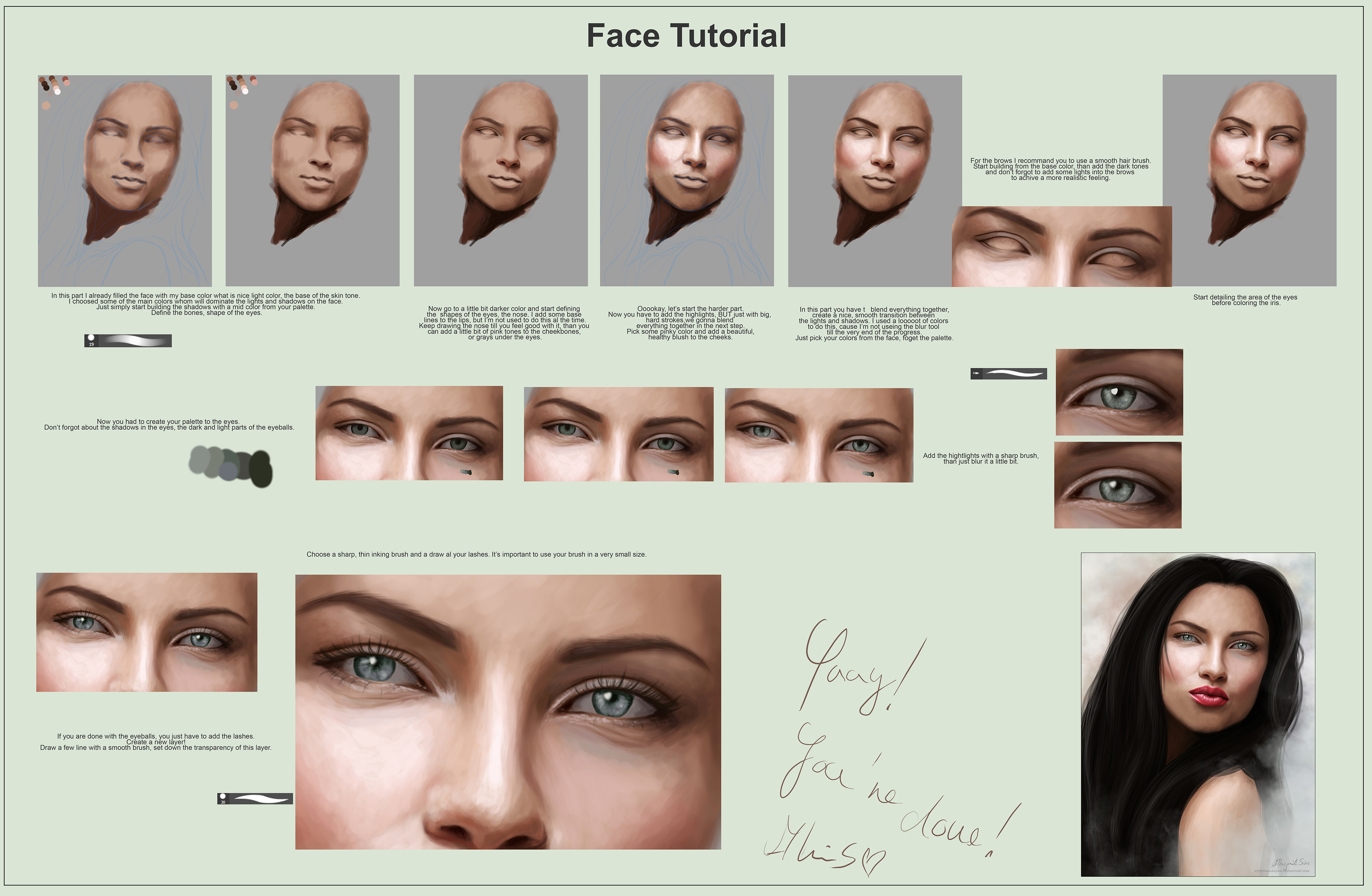 Faceskin and eyes tutorial by abigailsins on deviantart faceskin and eyes tutorial by abigailsins baditri Image collections