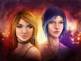 Rachel and Chloe from Life is Strange games by AbigailSins
