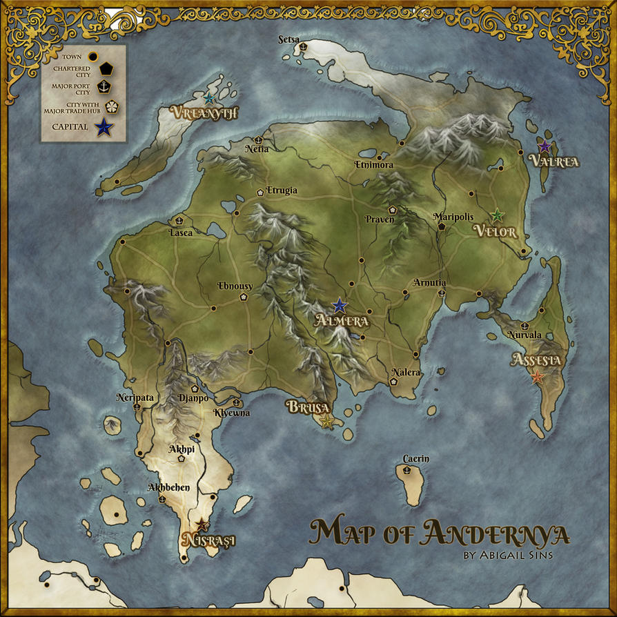 Map of Andernya by AbigailSins