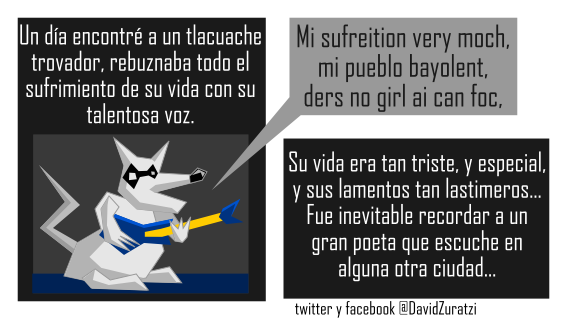 el tlacuache trovador by Zhade-klim