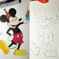 Happy 91st birthday, Mickey mouse! by Firefalken97
