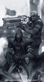 Reaper and Soldier 76 of Overwatch (WIP)