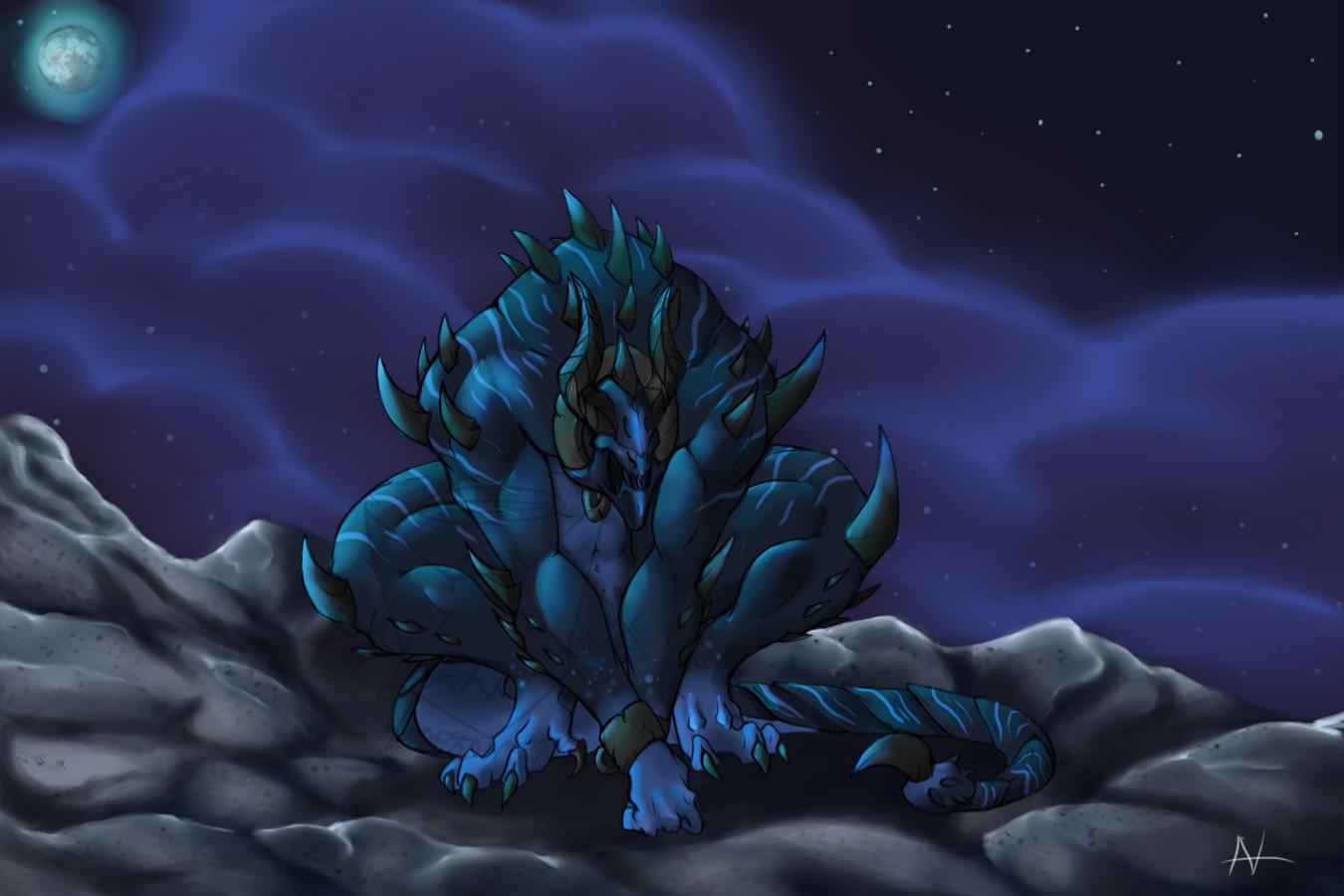 Blue Demon by UndeadKitty13