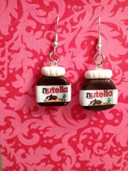 Clay Nutella earrings