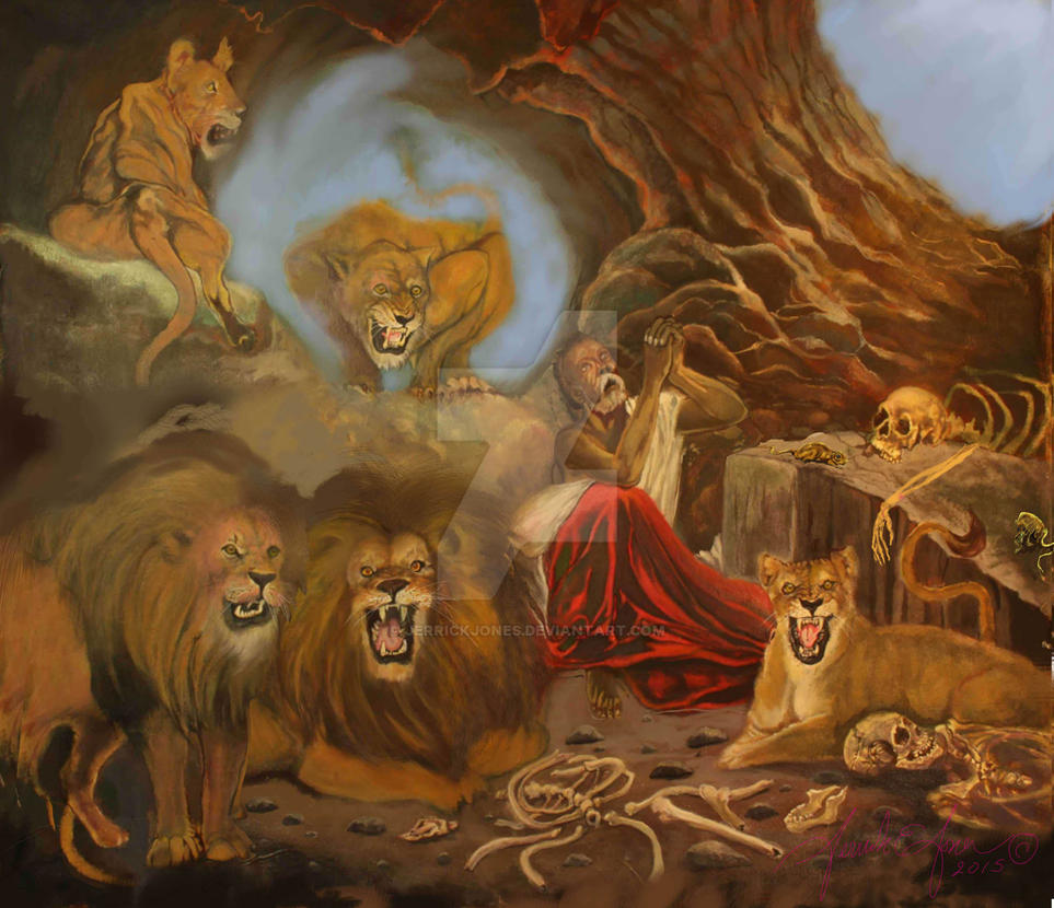 Daniel And The Lions Art