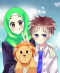 Aya, Sura, and Poji by Ida-chann