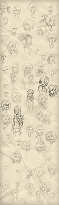 Expression sketches by vatvat99