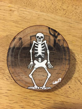 Knock On Wood #5 Spooky Calcium Person