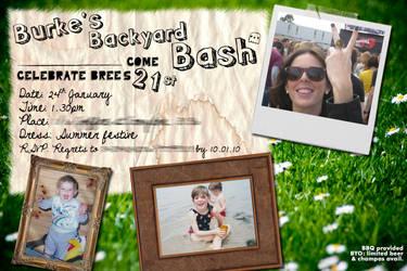 Sister's 21st invitations
