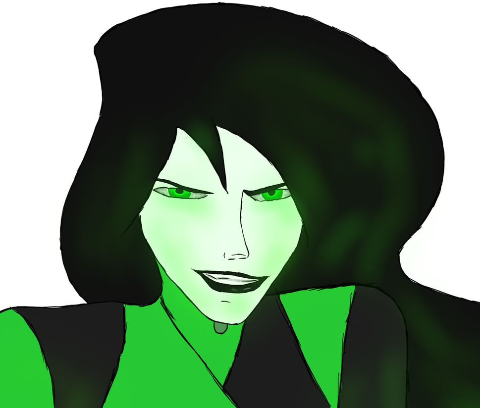 Shego face detail by WolvenBane08