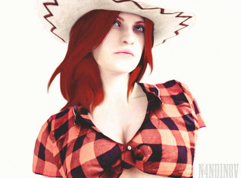 I'm a cowgirl - Claire Redfield