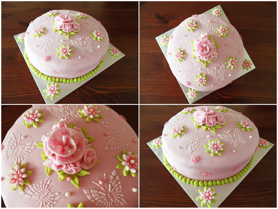 Pink cake by JankaArt
