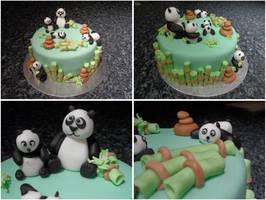 Panda cake by JankaArt