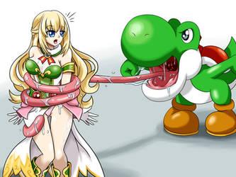 Yoshi vs Vert by krlitosss