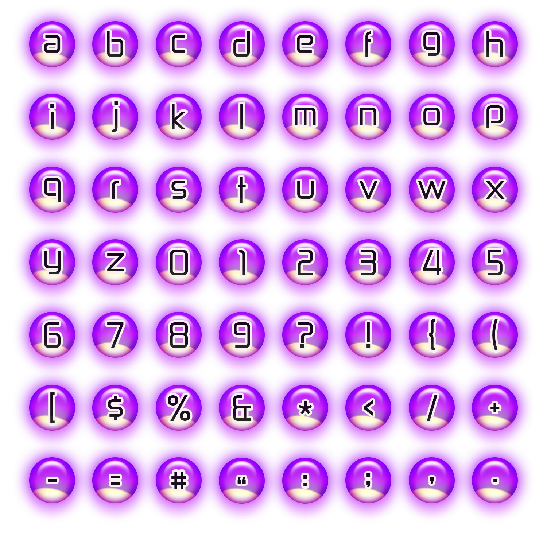 Purple Neon Bubble Alphas by noema-13