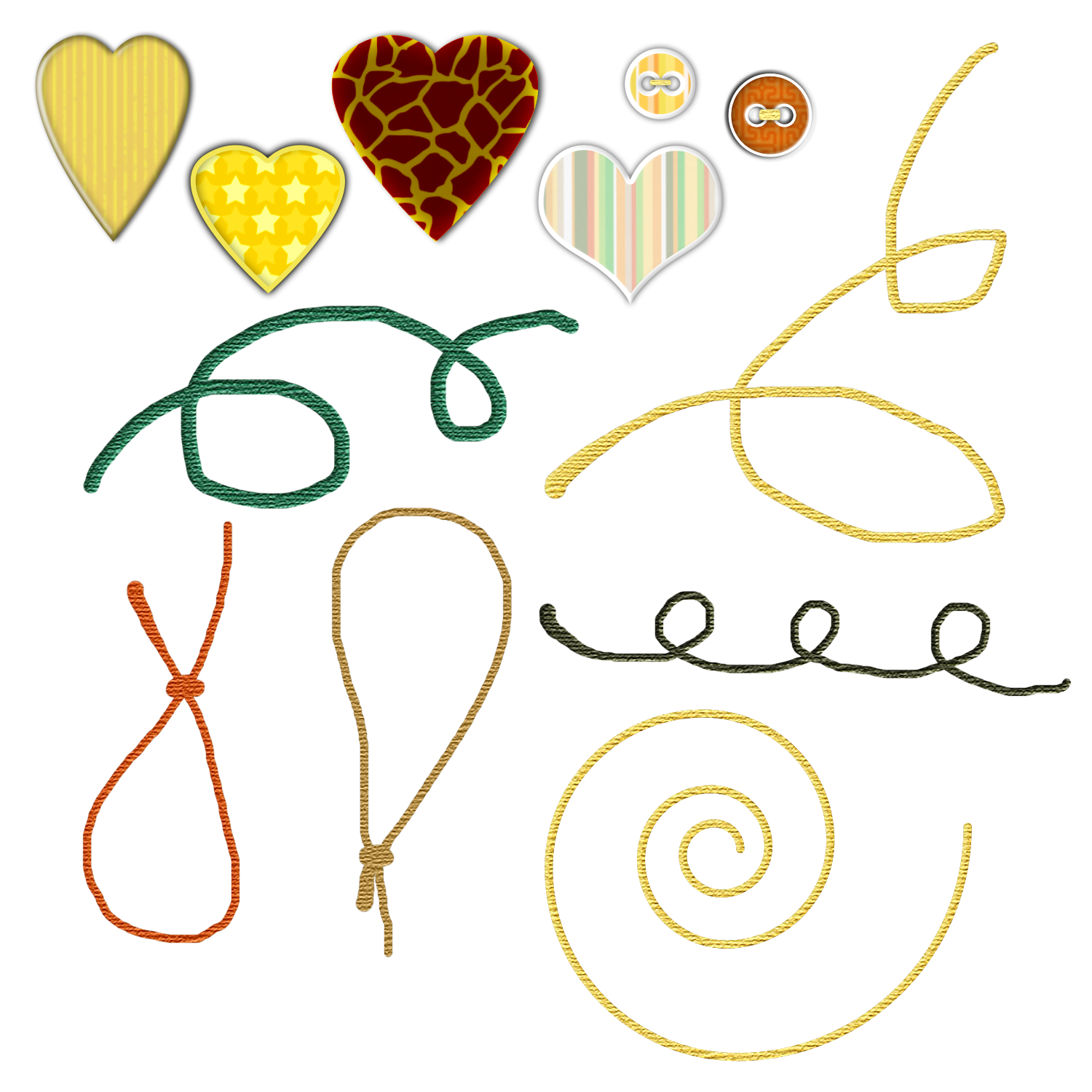 PNG tags, doodle strings by noema-13