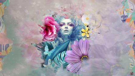 Collage wallpaper - Summer Beauty