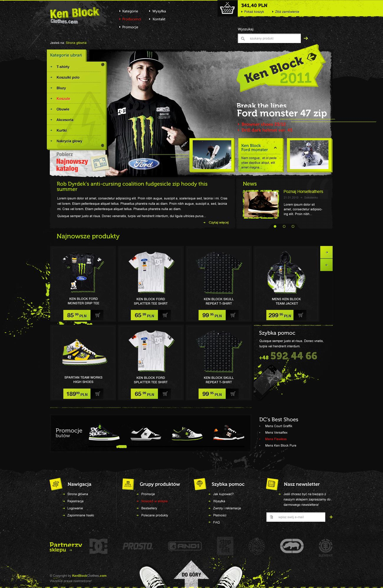 Ken Block - online store by lukaszsokol