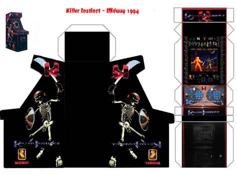 Killer Instinct Papercraft Arcade Cabinet