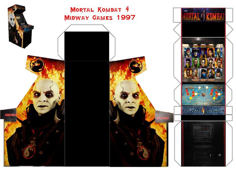 Mortal Kombat 4 Papercraft Arcade Cabinet by Papercrafter1