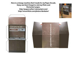 Paper Arcade Change Machine by Papercrafter1