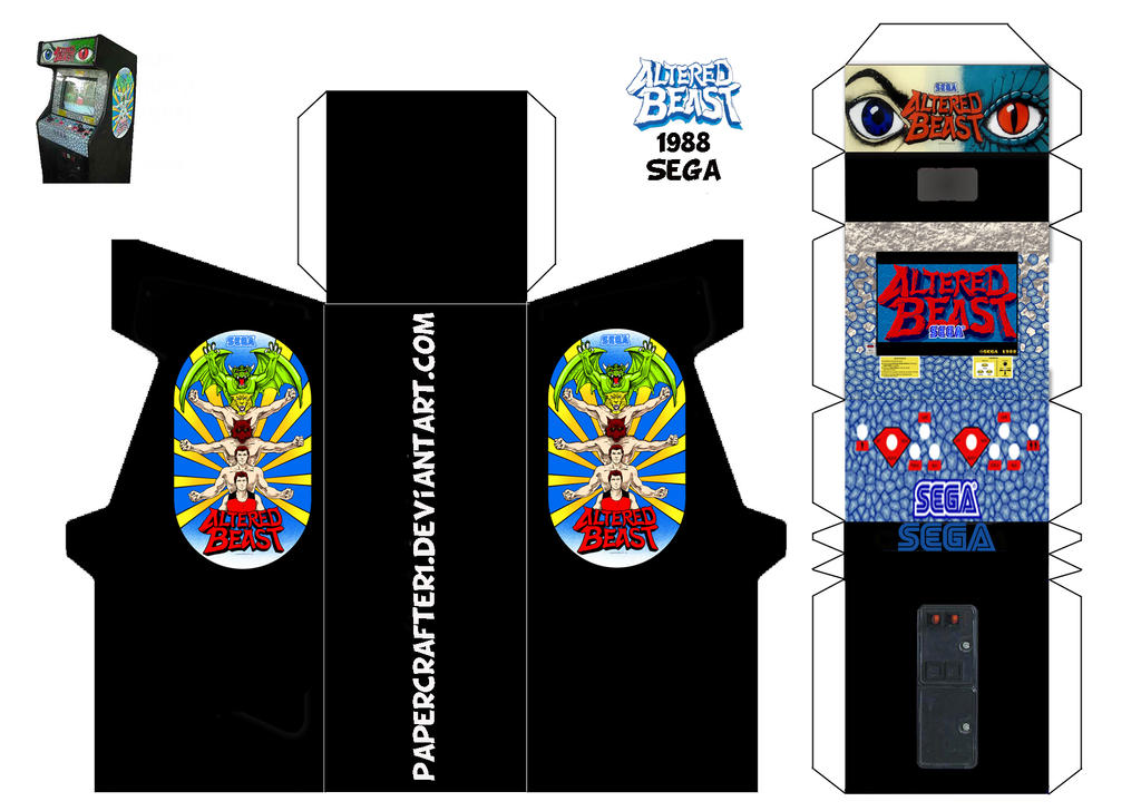 Altered Beast Papercraft Arcade Cabinet by Papercrafter1 on DeviantArt