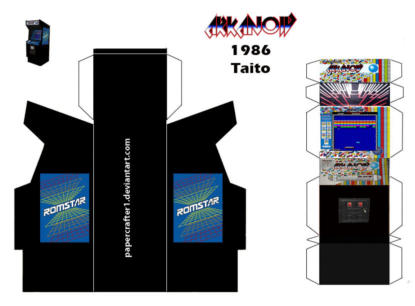 Arkanoid Papercraft Arcade Template By Papercrafter1 On