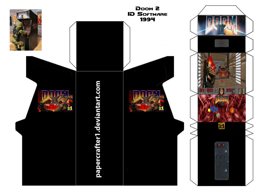Doom 2 Paper Arcade Cabinet by Papercrafter1 on DeviantArt
