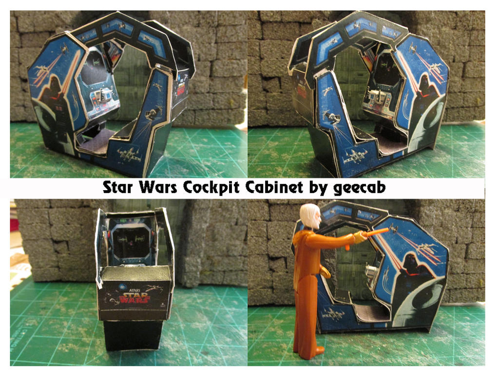 Star Wars Cabinet Multi Shot Star Wars Arcade Cabinet Papercraft By Papercrafter1 On