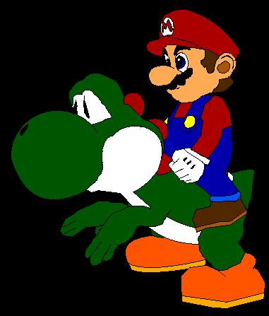 Mario Riding Yoshi Png By Qwertyuiopasd1234567 On Deviantart