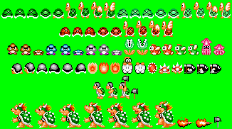 SMAS SMB1 enemies with NES palette by qwertyuiopasd1234567