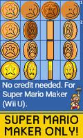 Super Mario Maker: Star Coin (SMB1/SMB3/SMW) by qwertyuiopasd1234567