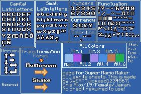 Super Mario Maker: SMM RTB Gridset