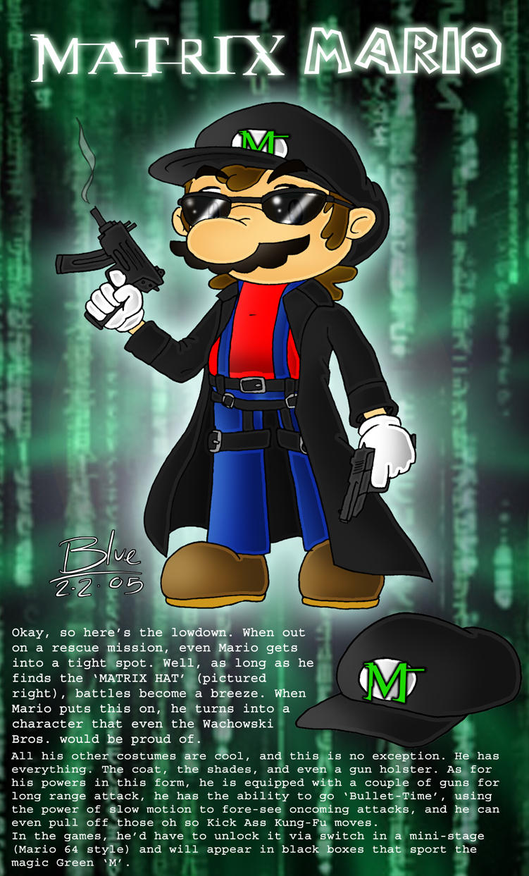 Matrix Mario by Blue-the-Echidna