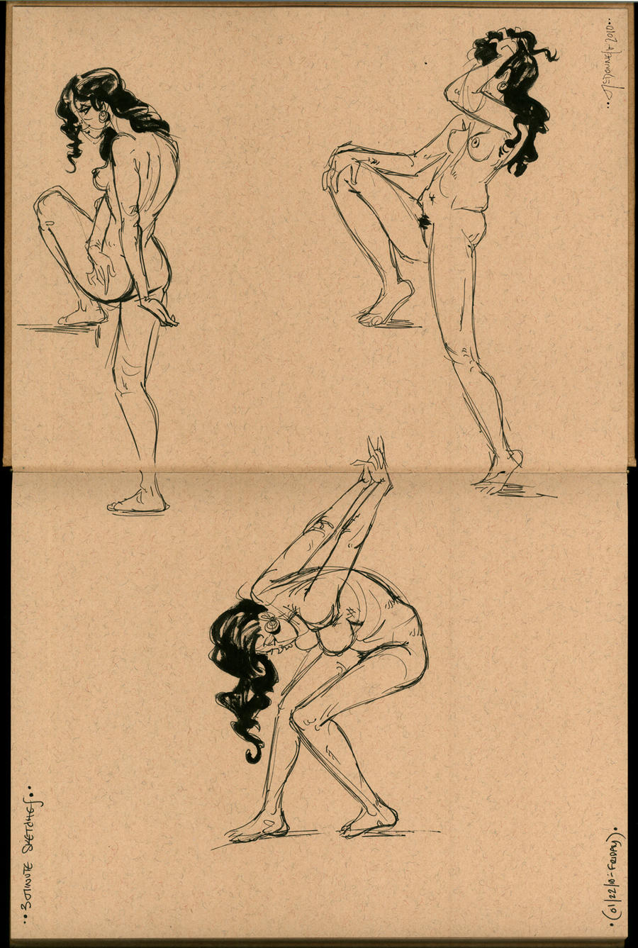 Figure Drawing- Female Nuddies by Cre8tivemarks on DeviantArt