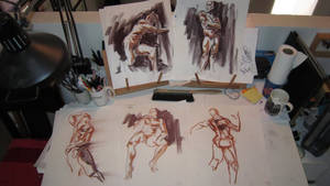 Figure Drawing - The Gents by Cre8tivemarks