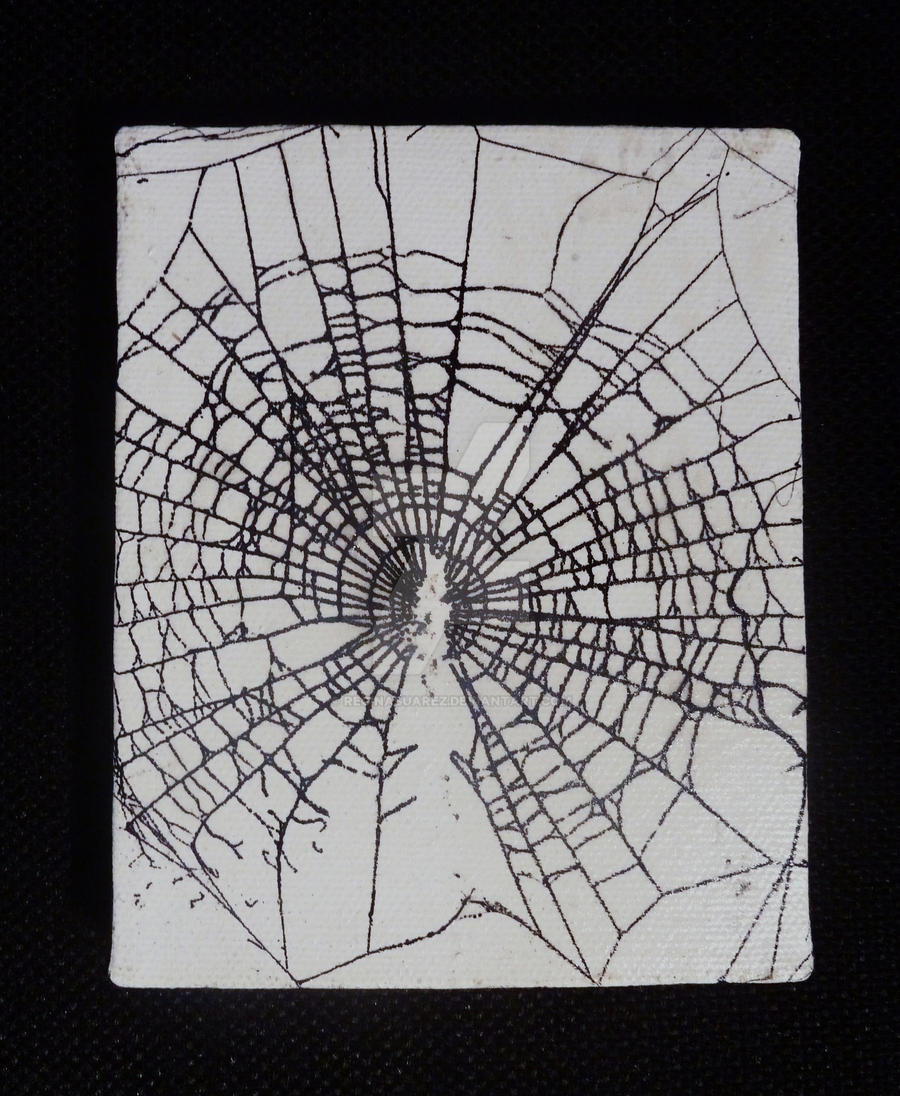 Gold Spider Web Fashion Halloween Painting by Mindy Sommers