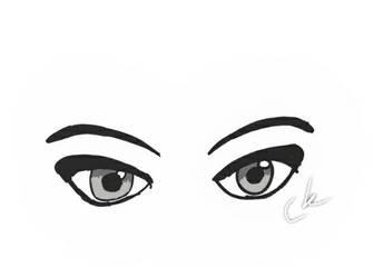 Eyes. Grey filter. by SparklyGirl1