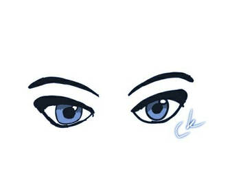 Eyes. Blue filter by SparklyGirl1