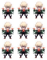 Bakugou Stickers by Zensoko