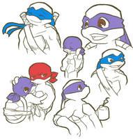 TMNT: Sketch by NamiAngel