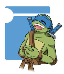 TMNT: Laughing Leo by NamiAngel