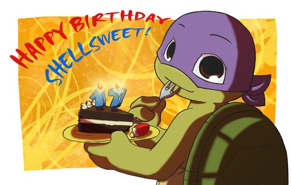 TMNTHappy birthday Shellsweet by NamiAngel on DeviantArt