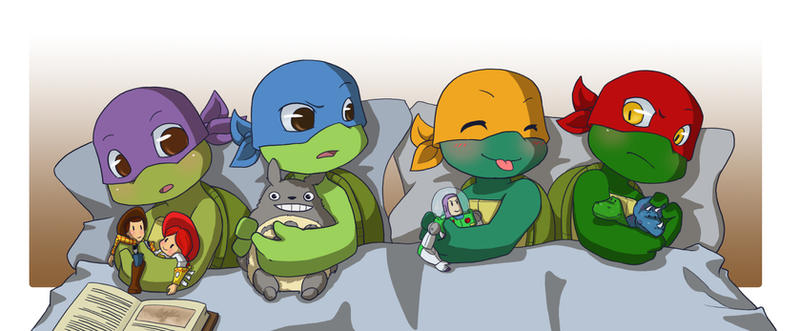 Turtle Toys For Boys : Tmnt ts boys and their toys by namiangel on deviantart