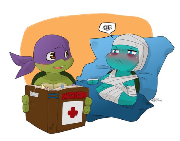 TMNT Flu mummy by NamiAngel