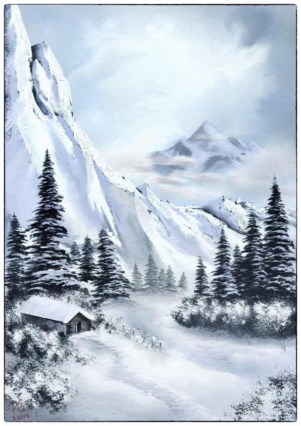 Bob ross style paintings in artrage by artrage on deviantart voltagebd Choice Image