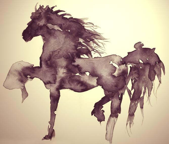 suluboyaat-watercolorhorse by cyberjini