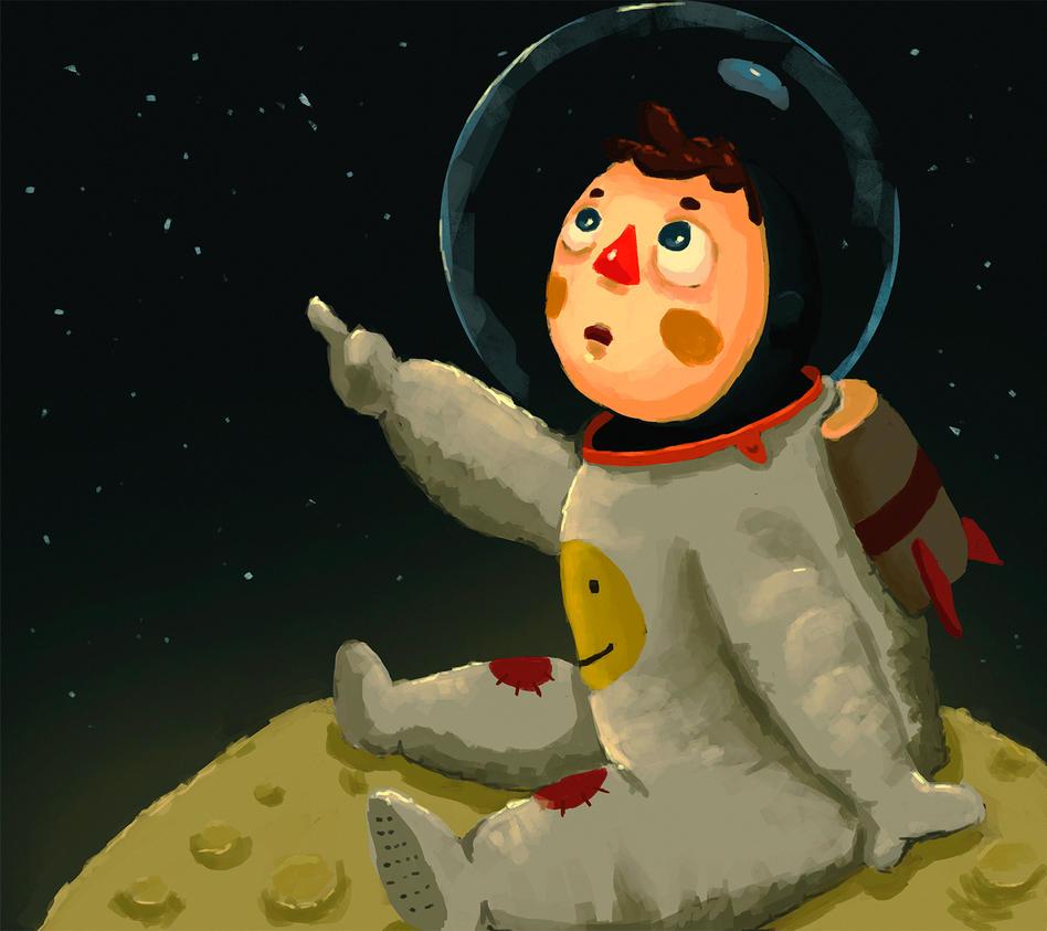 Kid on the moon by danmqrd