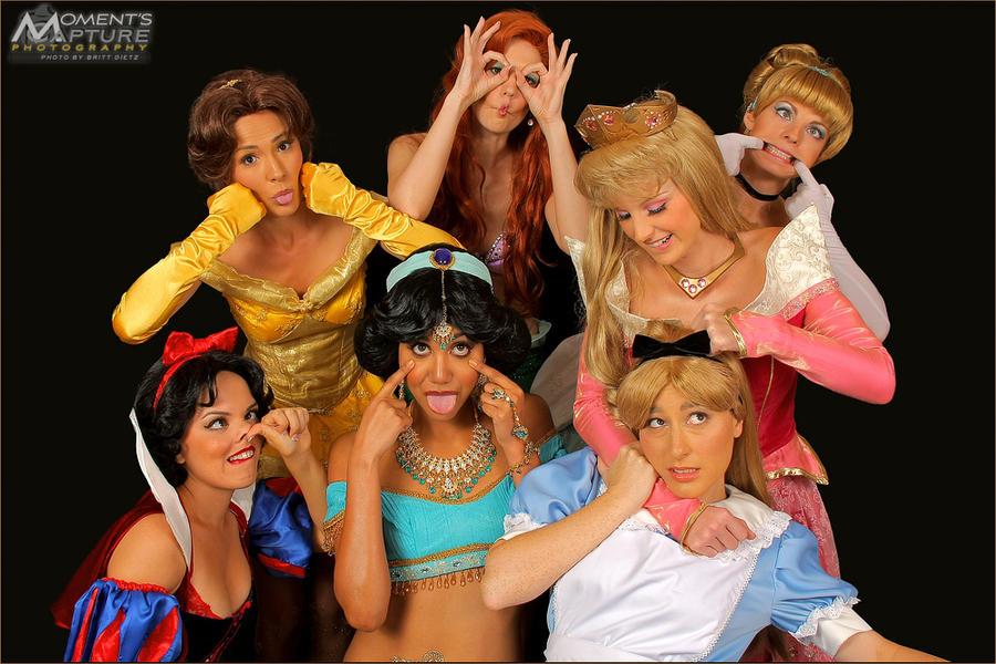 Goofy Princesses by LittleMissMint