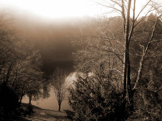 Mist has encircled the lake by lavrentij6lavinija
